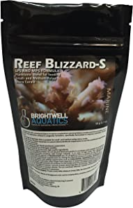 Brightwell Aquatics Reef Blizzard-S - Powdered Planktonic Blend for Feed Small and Medium-Polyp Stony Corals