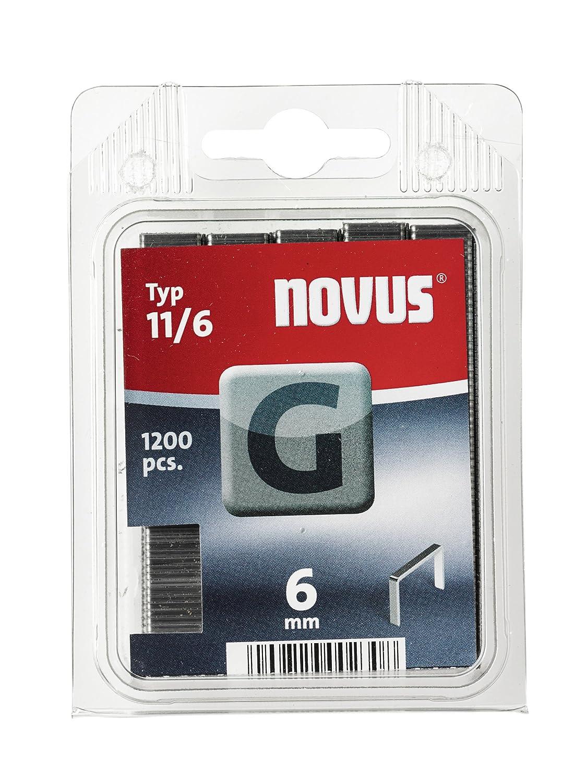 Novus 042-0528 Carton de 5000 Agrafes plates 11//8 mm Rouge