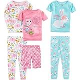 Simple Joys by Carter's Girls' Toddler 6-Piece Snug Fit Cotton Pajama Set
