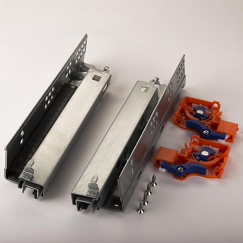 1 paire SO-TECH/® FullSlide Glissi/ère Rail de Guidage Syst/ème de Sortie Tiroir Syst/ème Glissi/ère 400 mm pour des Tiroirs en Bois avec Push-to-Open