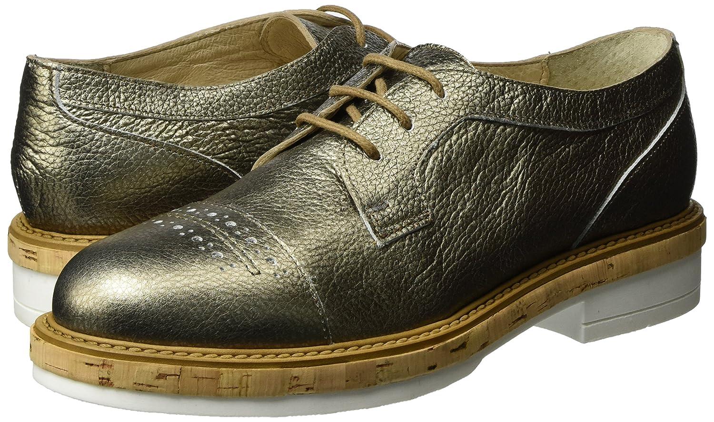 Manas Santorini, Zapatos de Cordones Derby Mujer, Dorado (FUCILE), 41 EU: Amazon.es: Zapatos y complementos