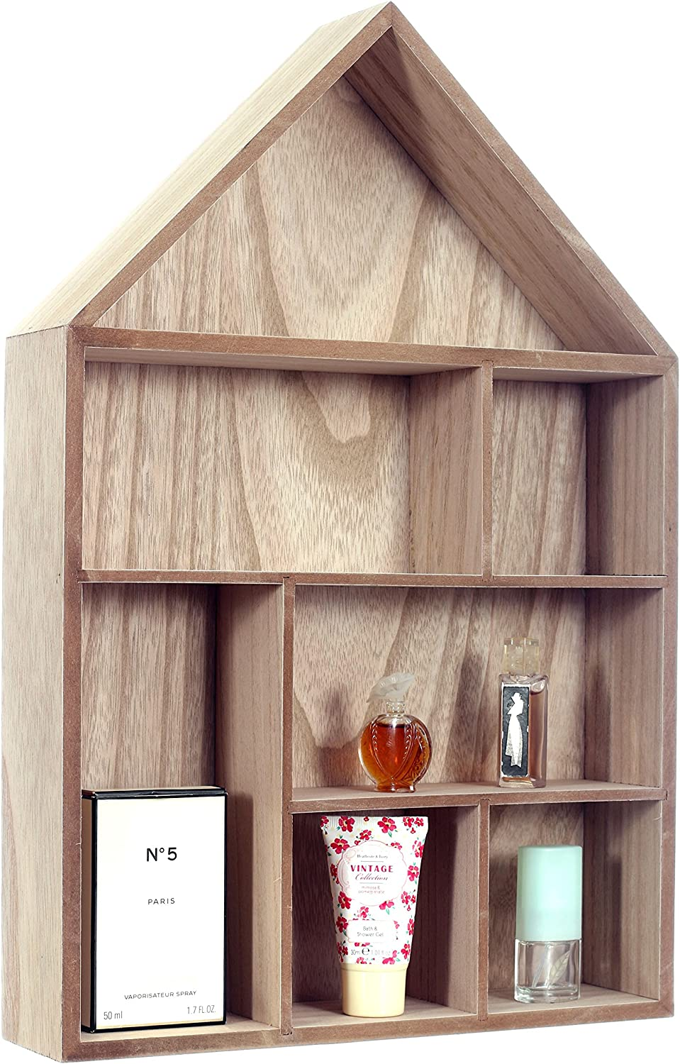 Multi-Colour 5.05 x 3.02 x 0.81 cm tohang up Rayher Wooden Seed Box House,FSC Mix Credit 30x50x8cm 8 Sections
