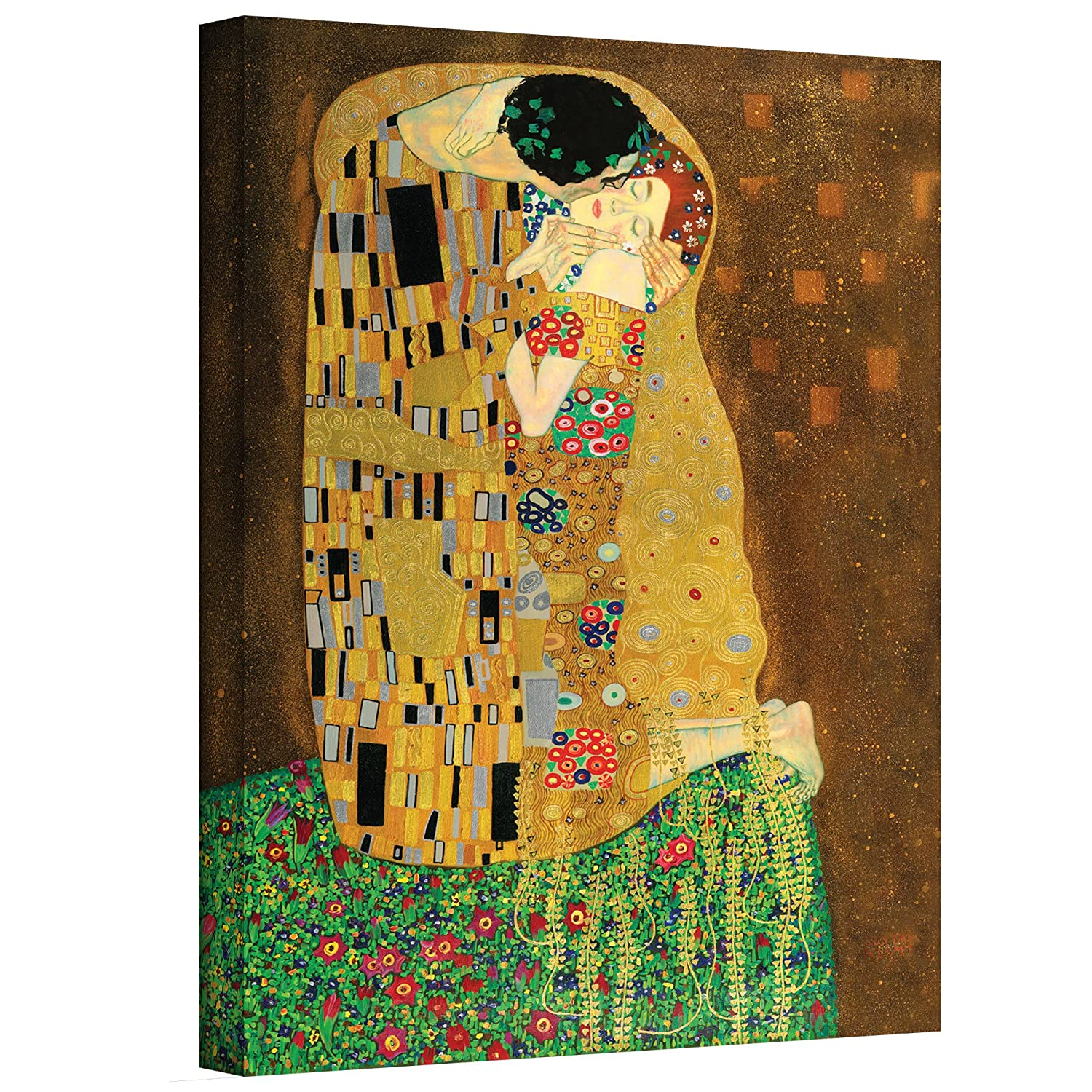 Amazon.com: ArtWall The Kiss Gallery Wrapped Canvas Art, 36 by 48 ...