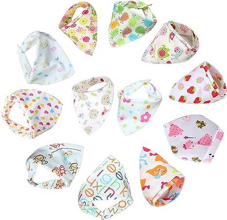 Bebedou - Baberos con forma de bandana para bebé, muy absorbentes ...