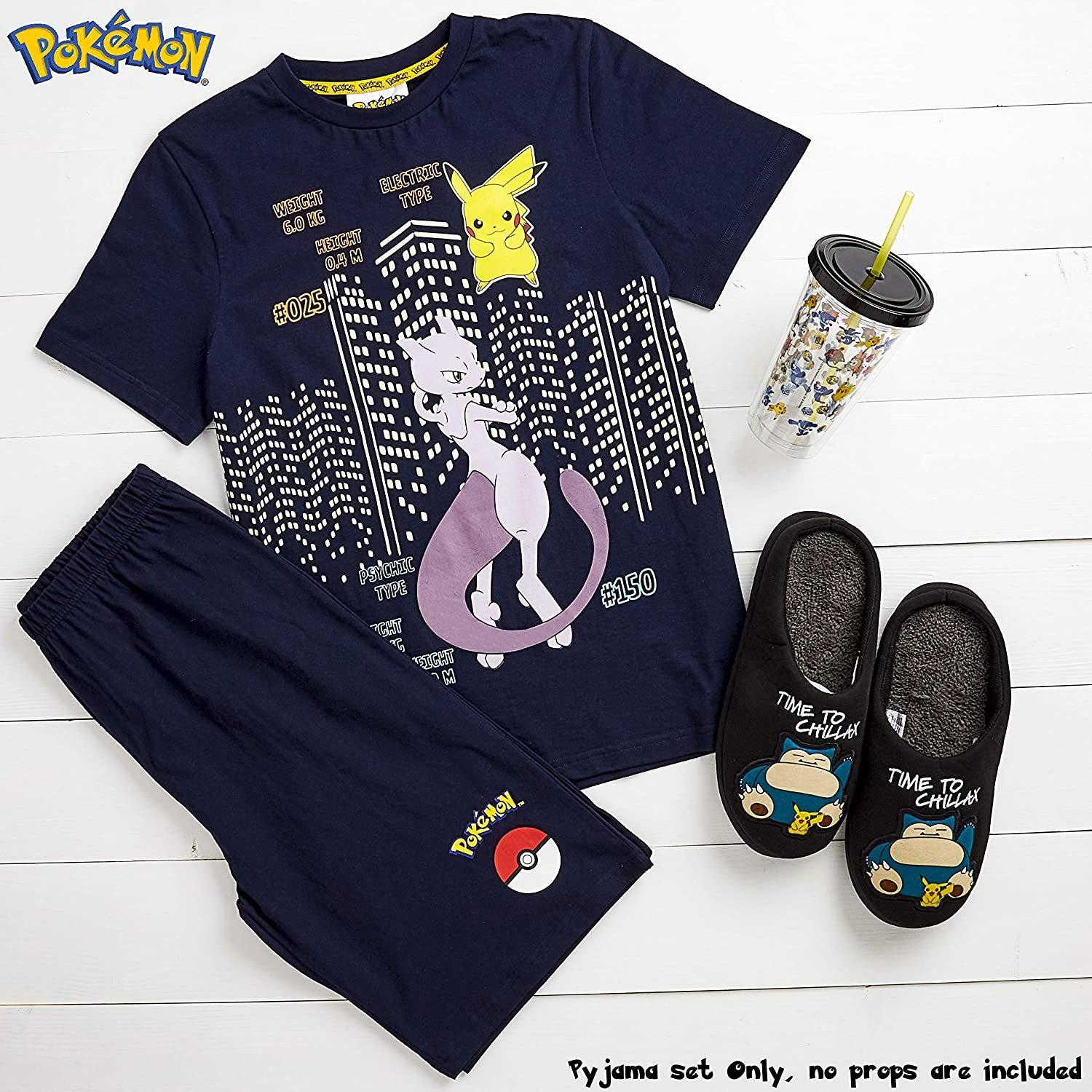 Kids Nightwear 4 to 14 Years Girls and Boys Pjs with Charizard Pikachu T-Shirt and Shorts Pyjamas Set Psyduck Mewtwo Teenagers Pokemon Boys Pyjamas Gifts for Kids