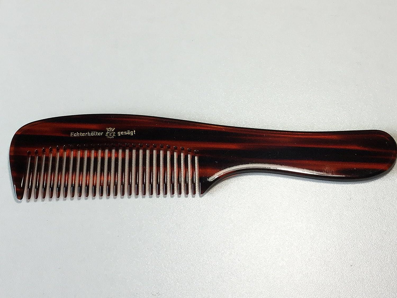 Echterh/ölter 5030 Design Handle Comb 18 cm Handmade Sawn Brown