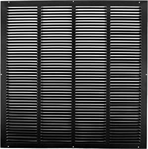 "14"" X 20"" Steel Return Air Grilles - Sidewall and Ceiling - HVAC Duct Cover - Black [Outer Dimensions: 15.75""w X 21.75""h]"