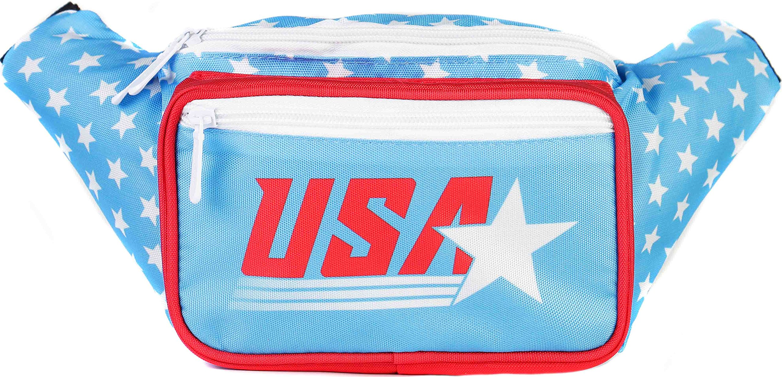 SoJourner-American-Flag-Fanny-Pack-USA-4th-Fourth-of-July-Stars-and-Stripes-Red-White-and-Blue