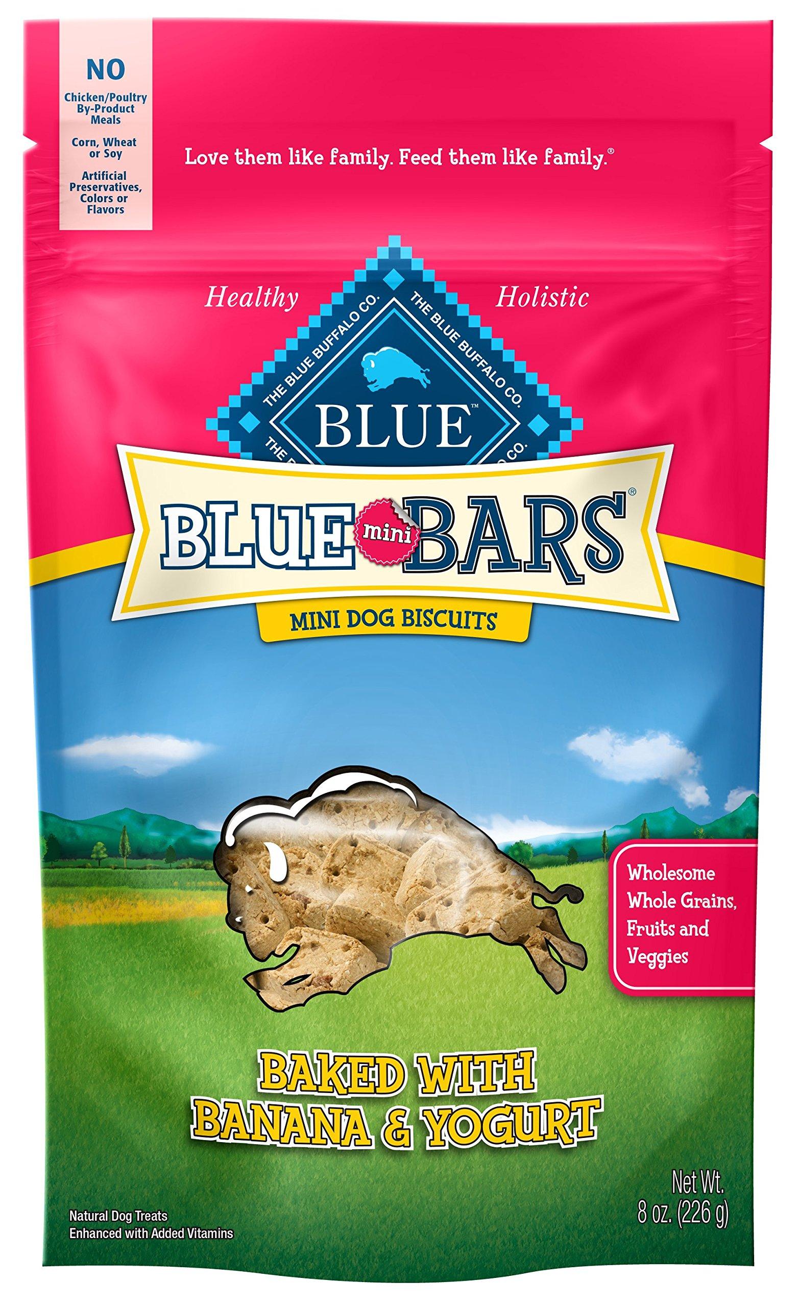 Blue Mini Bars Banana & Yogurt Dog Biscuits, 8 oz (6 Pack)