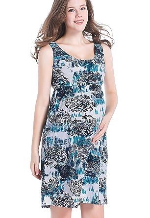 f8716f4d93 CAKYE Maternity Nursing Nightgown Dress Sleepwear For Breastfeeding and  Pregnancy (Small