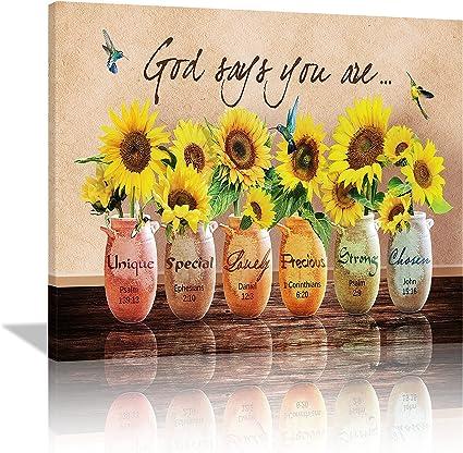 Sunflower Religious Wall Art