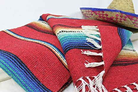 Amazon.com: Mexicano Serape Manta playa yoga sarape Throw ...