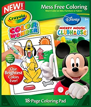Crayola Color Wonder Coloring Book Mickey 18P - Books and Colouring ...