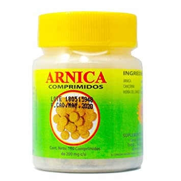 Arnica tablets sore muscles, headaches, stress, bug bites, alertness. 100 tablets