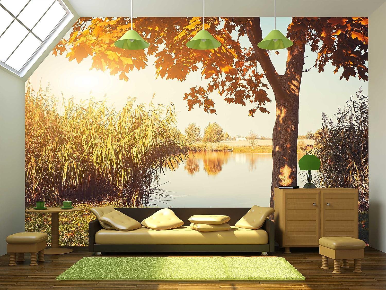 Autumn Lake - Wall Murals | Wall26