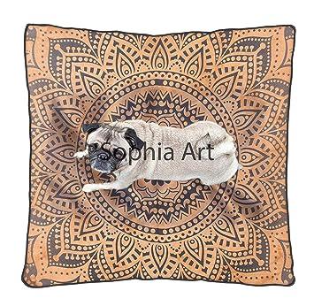 Amazon.com: Sofía Art Funda de cojín para suelo indio ...