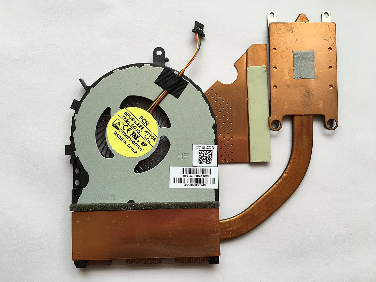 HK-Part Replacement Fan for HP Envy 15T-AE 15T-AE100 Series CPU Cooling Fan with Heatsink 4-Pin 4-Wire SPS 830002-001