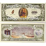 Jesus Psalm 23 $7 Dollar Novelty Bill Collectible