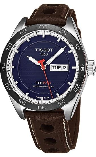 Reloj Tissot PRS 516 autómatico para hombre, con Powermatic 80 y esfera azul, T1004301604100.: Amazon.es: Relojes
