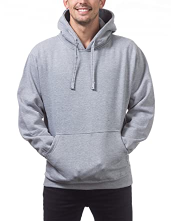 3aff00ac Pro Club Men's Heavyweight Pullover Hoodie (13oz), Small, Heather Gray