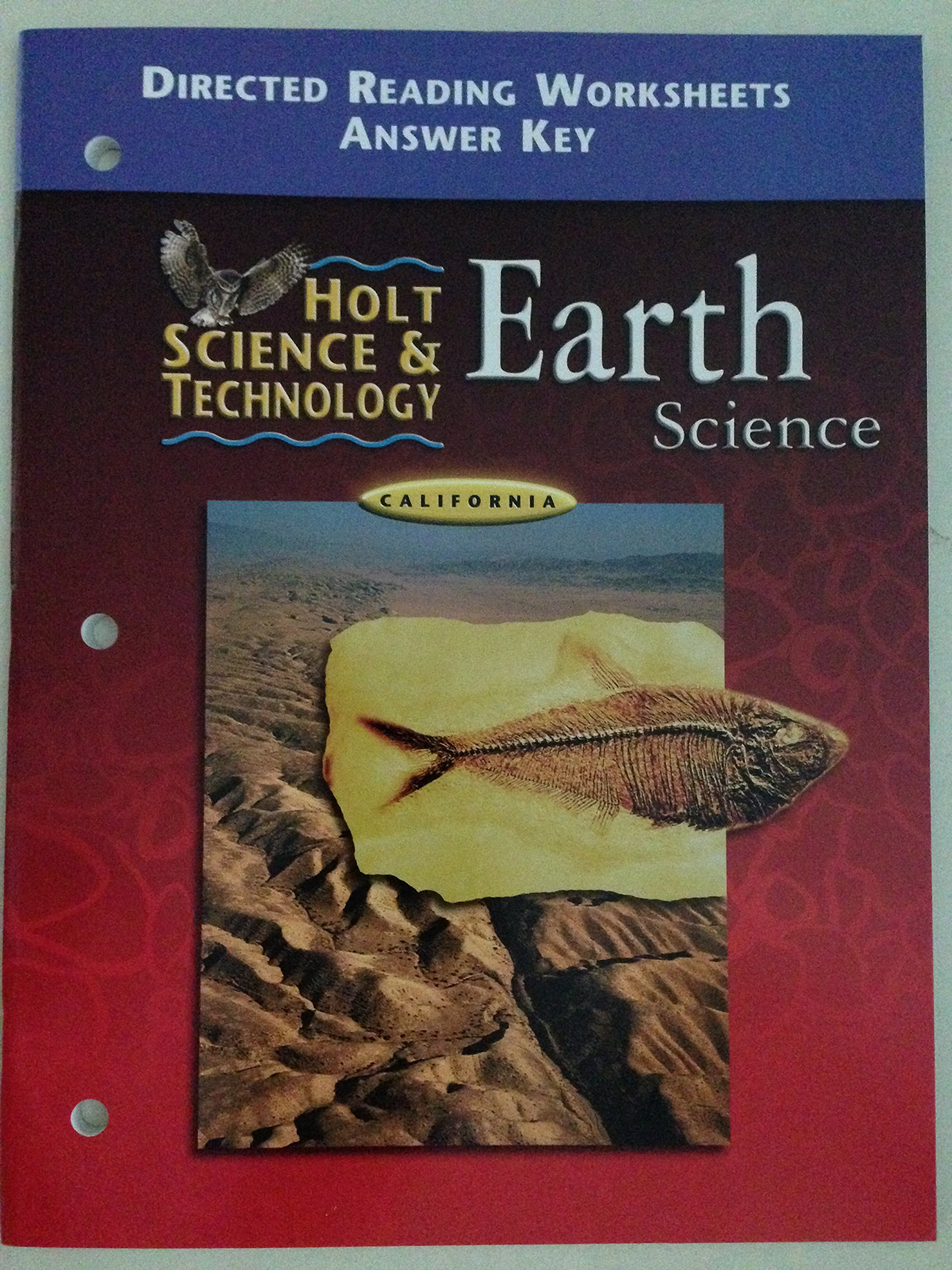 Holt Science And Technology Earth Science California Directed