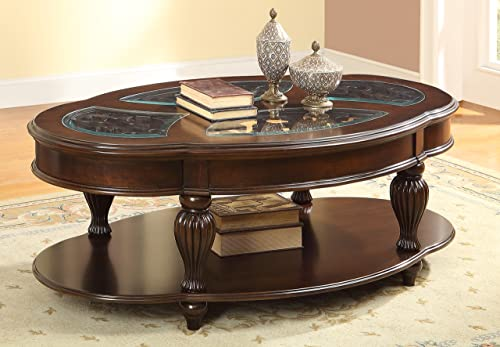 Furniture of America Elnas Glass Top