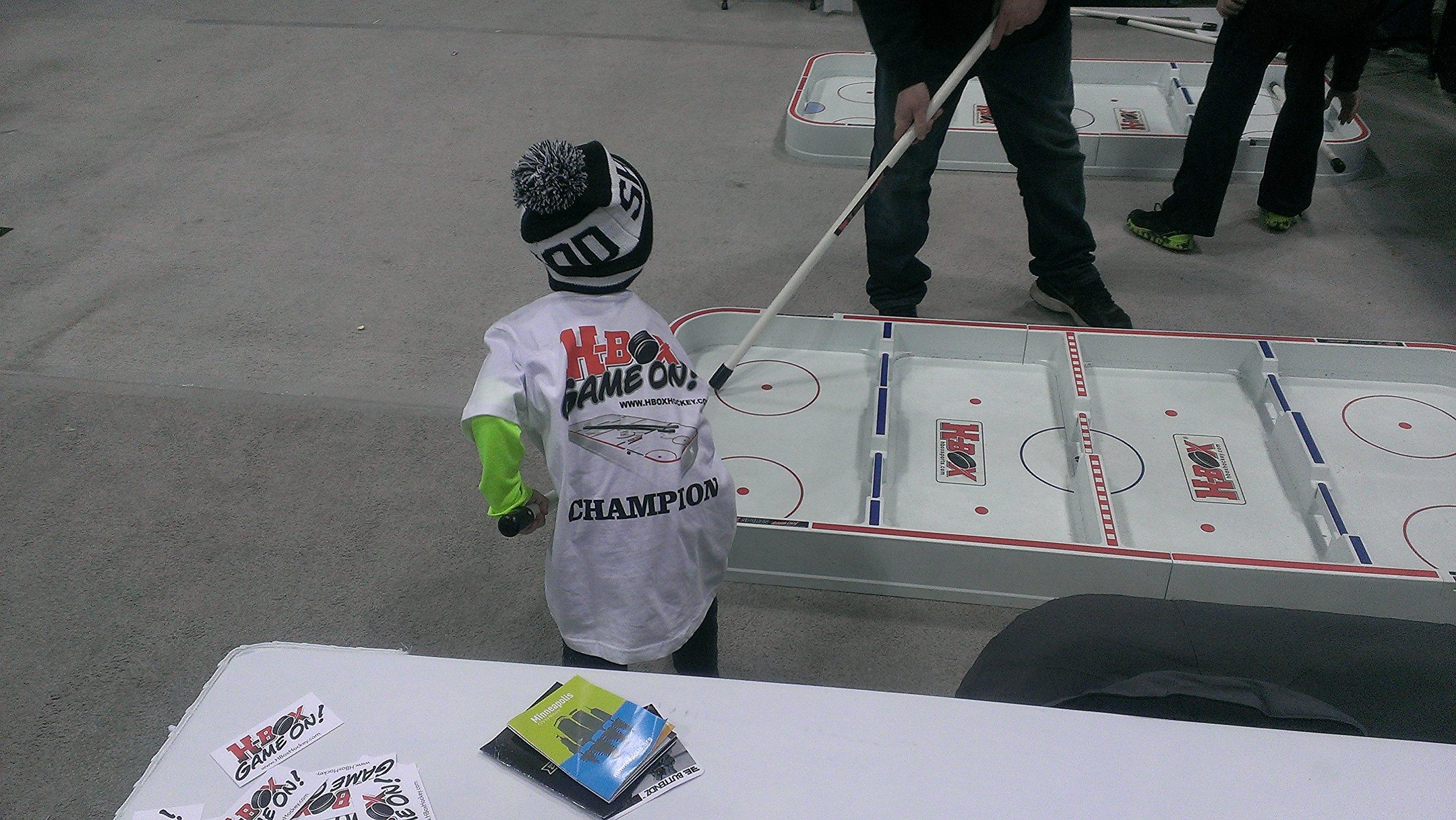 H-Box Pro Box Hockey with Fiberglass Sticks - FUN - Develop Ice Hockey Skills (Universal, 39) by H-Box®