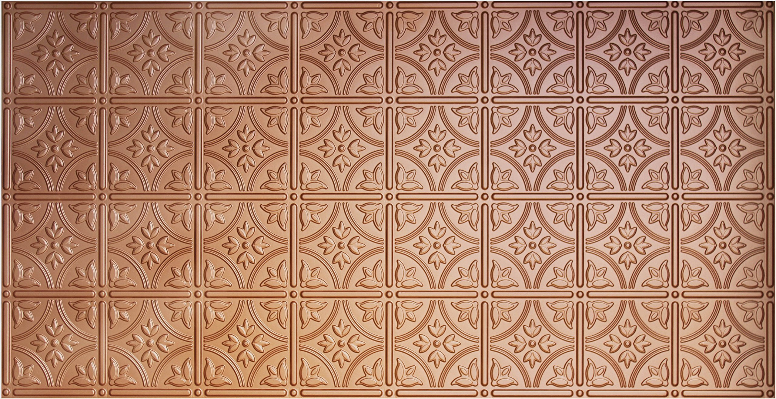 Global Specialty Products Pattern No.209 Tin Style Panel, 2 by 4-Feet, Copper
