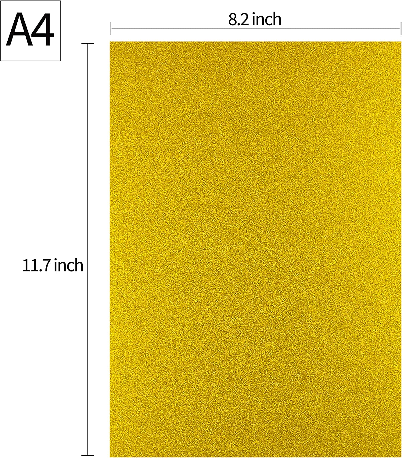 DIY // 300GSM 8 Assorted Color Gift Wrapping 110lb 50 Sheets A4 Colored Craft Card Stock for Craft Project Birthday Party Wedding Decorations Scrapbooking Heavyweight Glitter Cardstock Paper