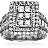 14k White Gold Diamond Engagement Ring (5 cttw, H-I Color, I2 Clarity), Size 7
