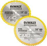DEWALT 10-Inch Miter / Table Saw Blades, 60-Tooth