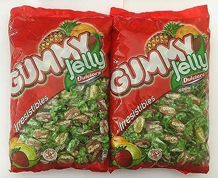 Dulciora Gummy Jelly Caramelos Gominolas Masticables Sin Gluten • Pack 2 x Bolsa 2 kg + Regalo Bolsa Maiz para Palomitas Oro del Mediterráneo 500 g: Amazon.es: Alimentación y bebidas