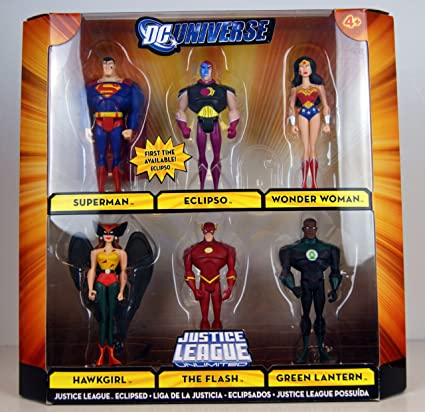 DC Comics Universe JLU ATTACK FROM THANAGAR Figures 6 Pack PARAN DUL Hawkgirl