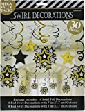Hollywood Swirl Hanging Decorations Pack Of 30 One Size