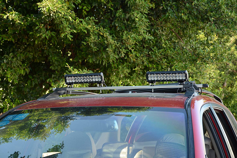 FSYF 4 Inch 18w Led Light Bar 2 PCS Led Work Light Spot Flood 2 Rows with Adjusted Bracket Led Driving Lights Fog Lights Jeep Offroad Lights Suv Atv 4wd Truck Boat Lighting