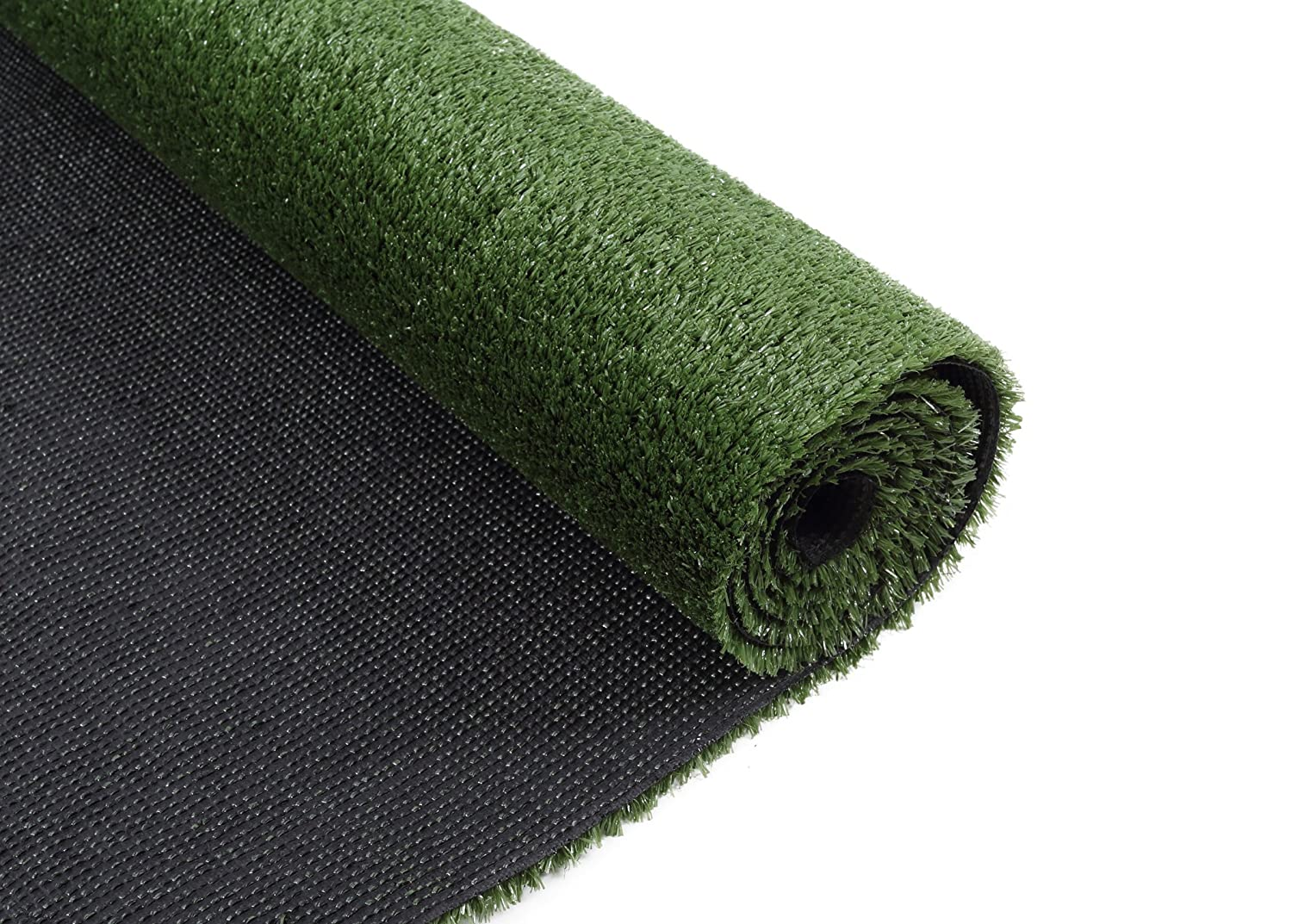 "VerdeCasa Realistic Artificial Grass Rug Indoor/Outdoor Decorative Synthetic Grass Turf 0.39"" Pile Height 4"