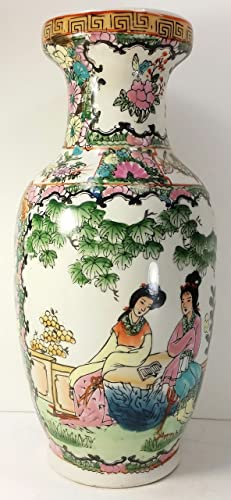 Colorful Oriental Vase with Geishas