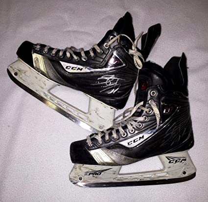 3488e397d Stefan Noesen Signed Game Used Ccm U Skates Plymouth Whalers New ...