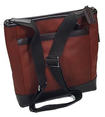 ca8eebd812e6f Amazon.com: Coach Camden Leather Tech Crossbody F71341 in Dust/Dark Brown:  Shoes