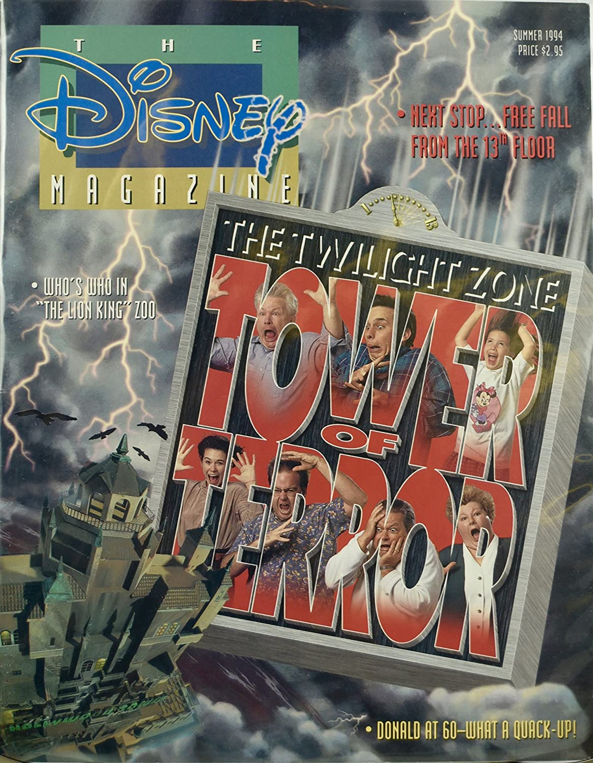 1994 - Summer - Vol. 29 / No. 3 - The Disney Magazine - The Twilight Zone : Tower of Terror - Donald Duck at 60 - OOP - New - Mint - Rare - Collectible
