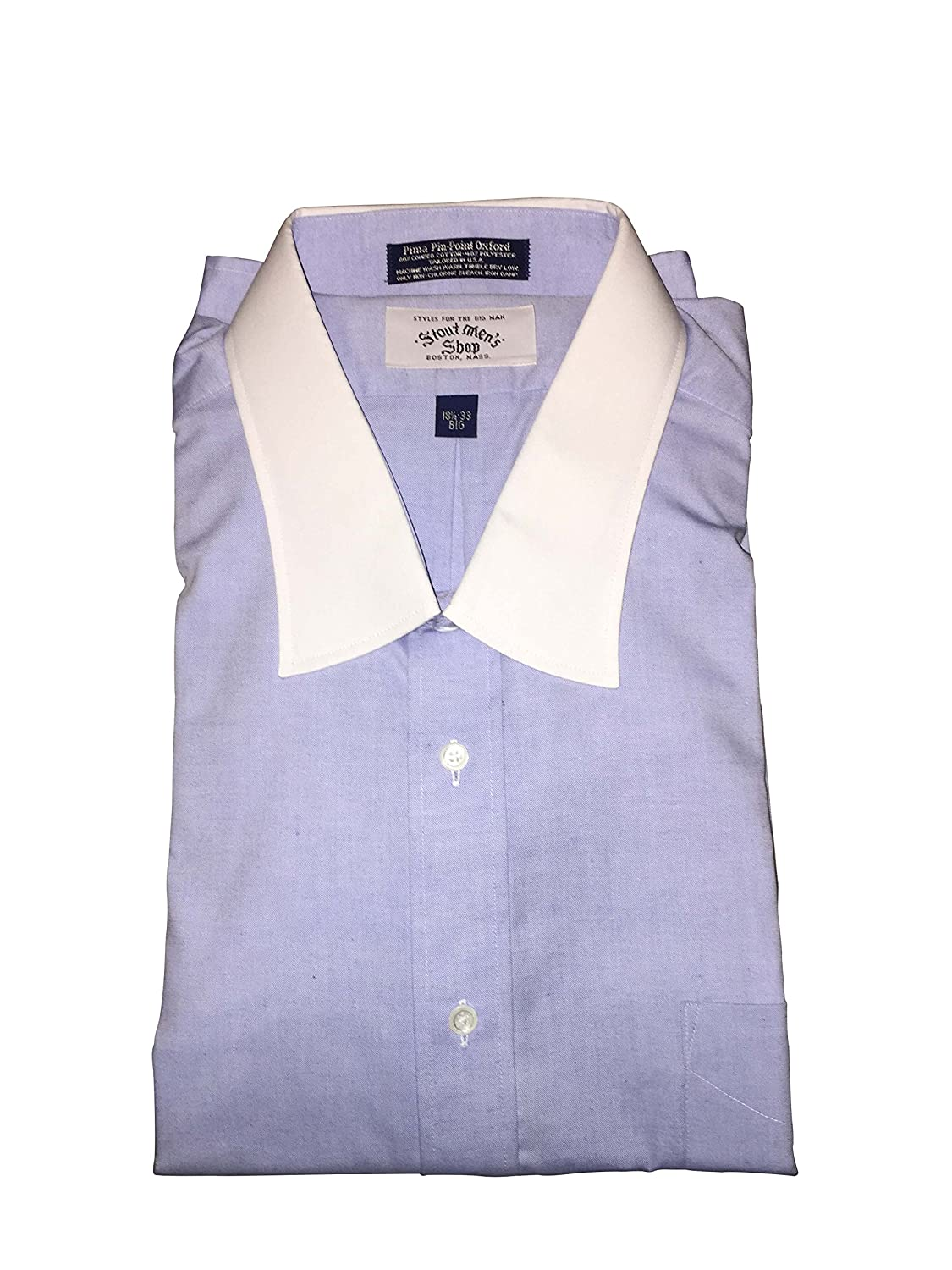 Amazon Stoutmensshop Big And Tall 185 Neck Usa Made Contrast