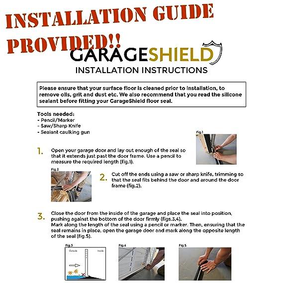 Garage Door Floor Threshold Weather Seal 25m Draught Excluder