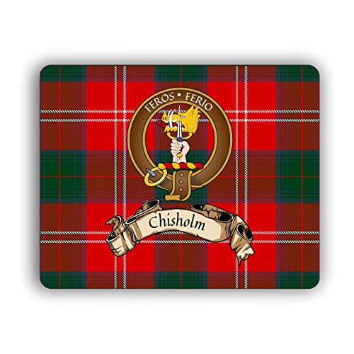 Malcolm Scottish Clan Tartan Crest Computer Mouse Pad