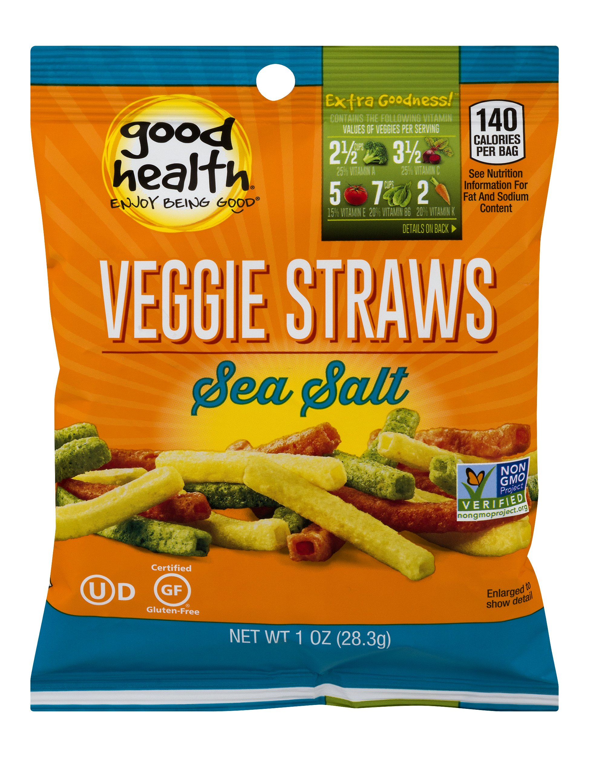 Good Health Veggie Straws Sea Salt, 1 oz