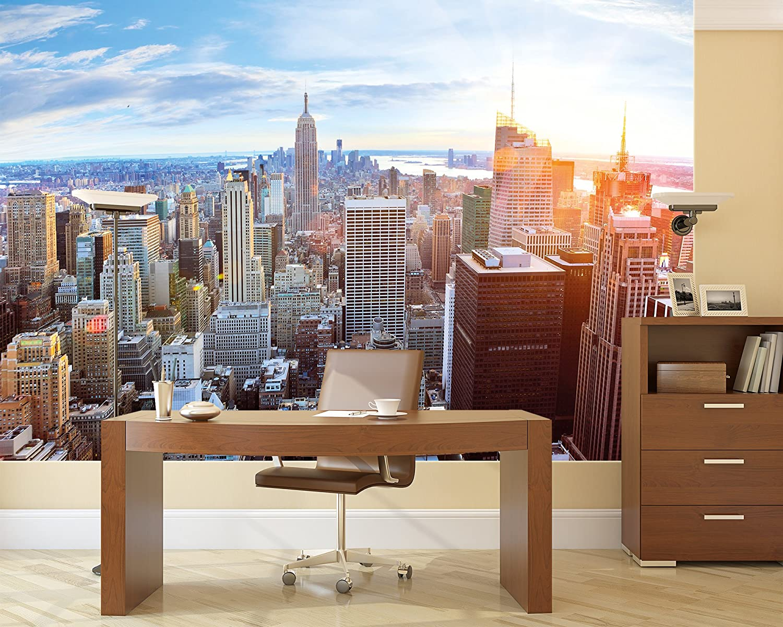 New york penthouse skyline fotomurale u vista su manhattan quadro