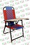Study Chair Combo Of Study Pad & Folding Hallow Iron & Nawar ( Yellow & Red)