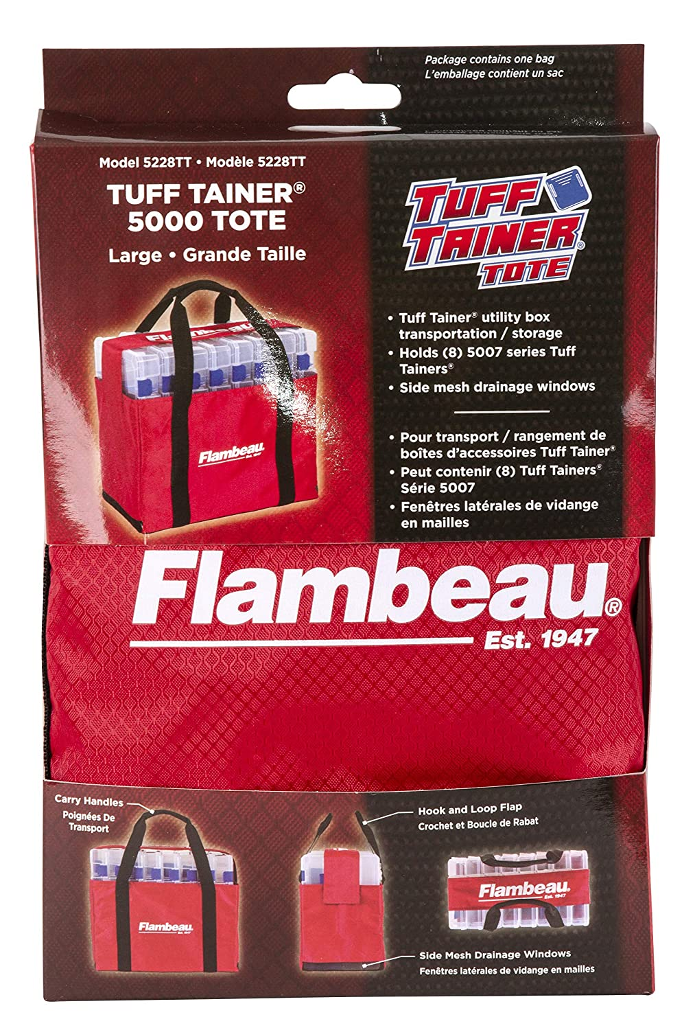 Flambeau Outdoors 5228TT 5000 Tuff Tainer Tote – Small – Bag ONLY