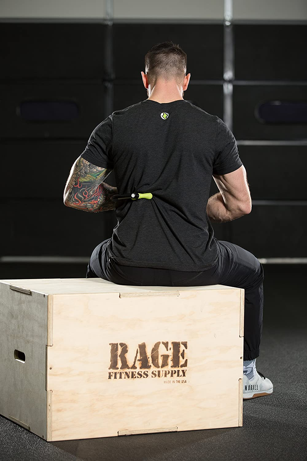 Rage Fitness Muscle Back Massager Deep Tissue Therapy Curve Gibson Athletic FA-TC001