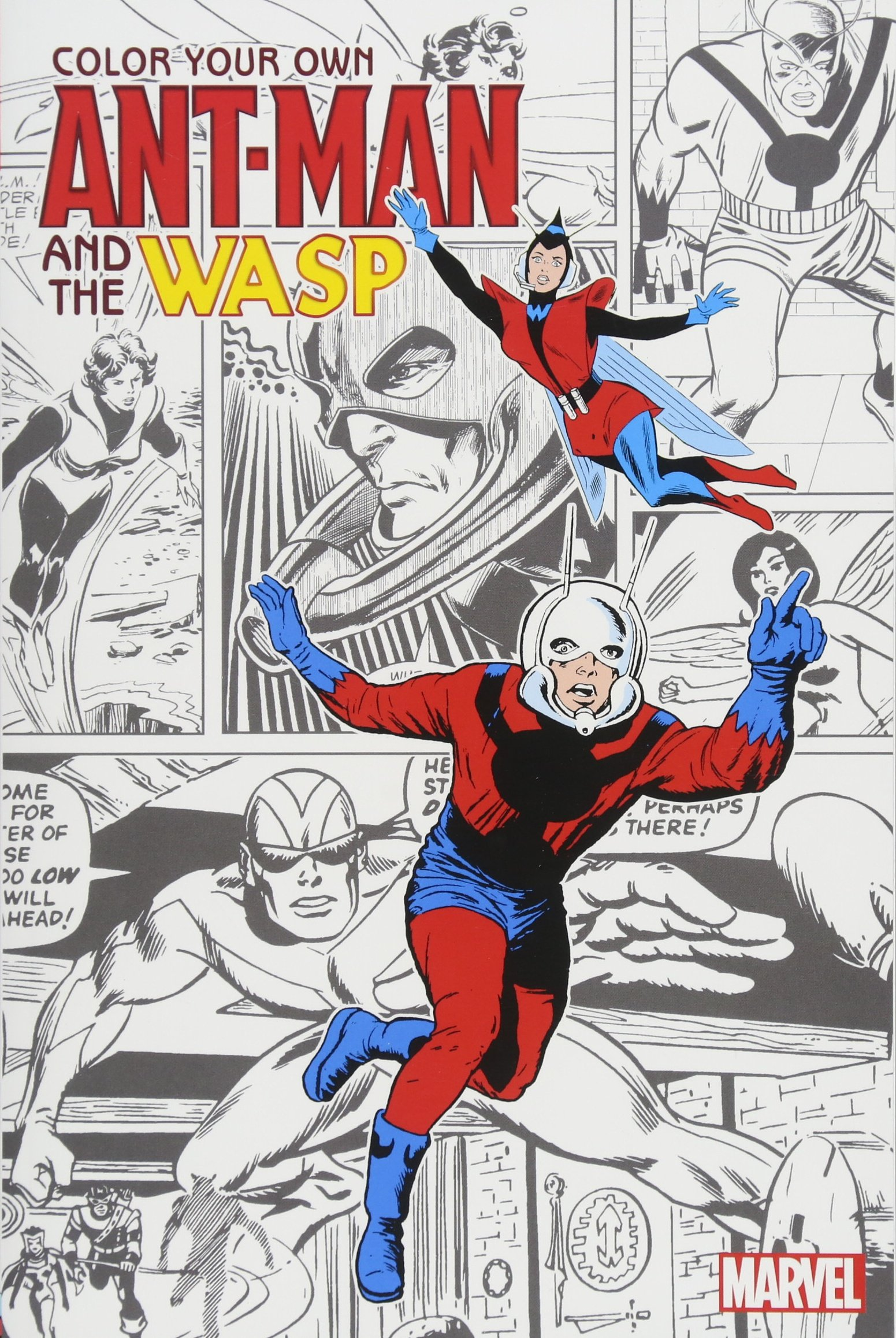 Amazon Com Color Your Own Ant Man And The Wasp 9781302908904