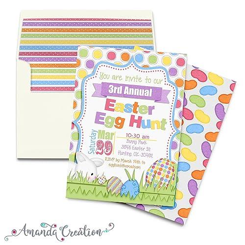 Easter Egg Hunt Invitation Handmade